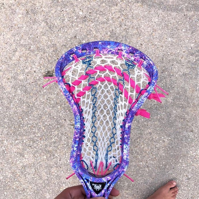 how to string a lacrosse head bottom